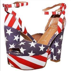 JEFFREY CAMPBELL USA Platform Shoes 7.5